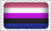 Gender Fluid Pride Stamp by lovemystarfire