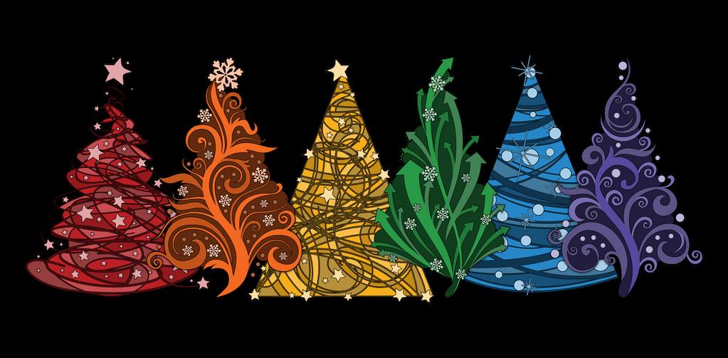 Rainbow Christmas Trees By Lovemystarfire On DeviantArt