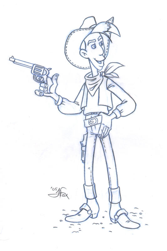 .:Lucky Luke - Sketch:. by JessFox
