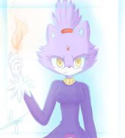 Blaze the cat by Elya--chan12