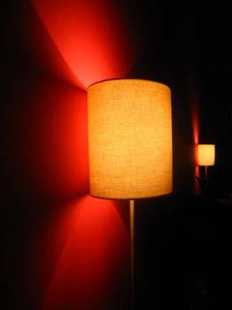 Light over red
