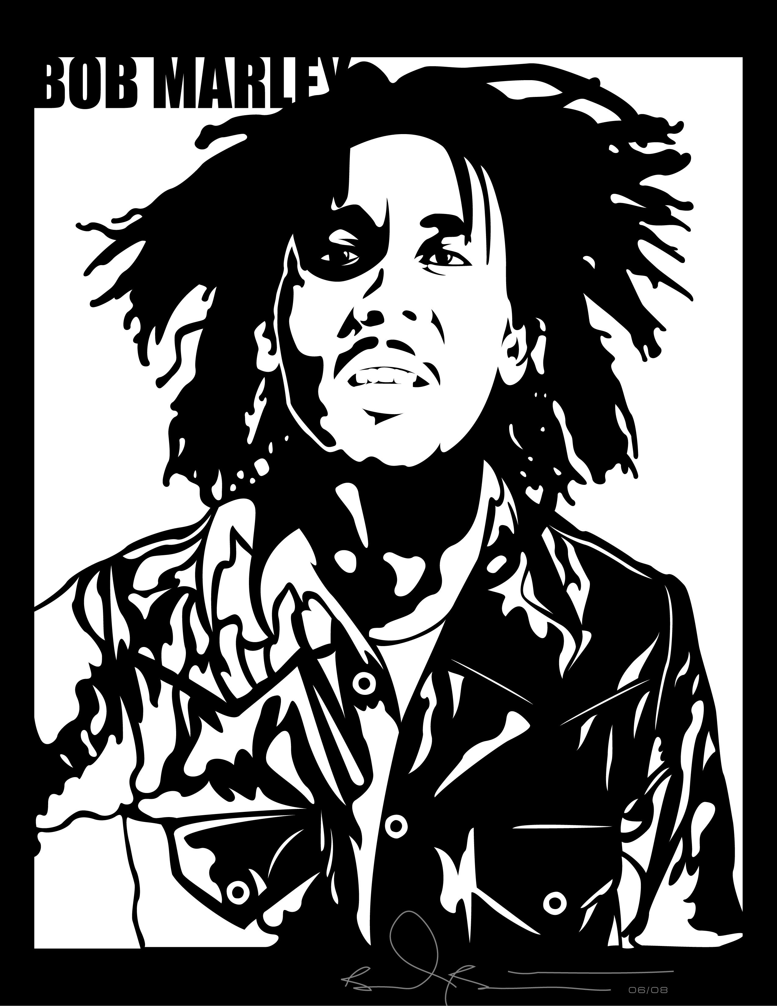 Bob Marley By Grizzlee503
