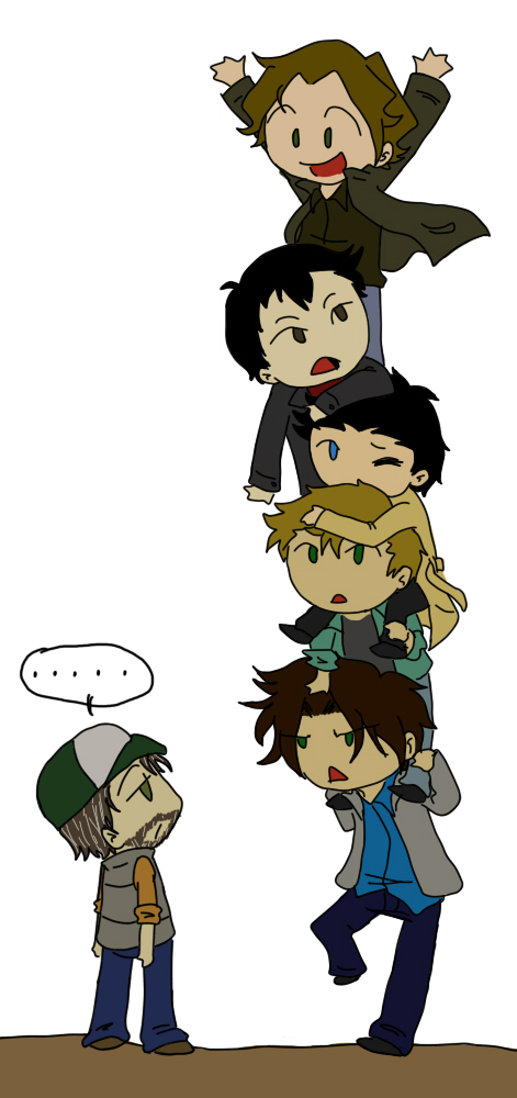 SPN-- Chibi Stack by KaruLeonnese
