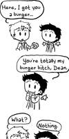 SPN-- Burger Bitch by KaruLeonnese