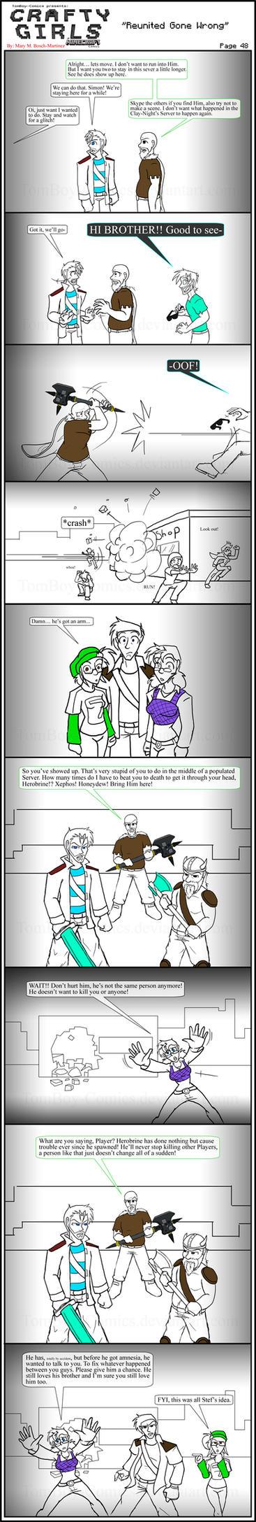 Minecraft Comic: CraftyGirls Pg 48 by TomBoy-Comics