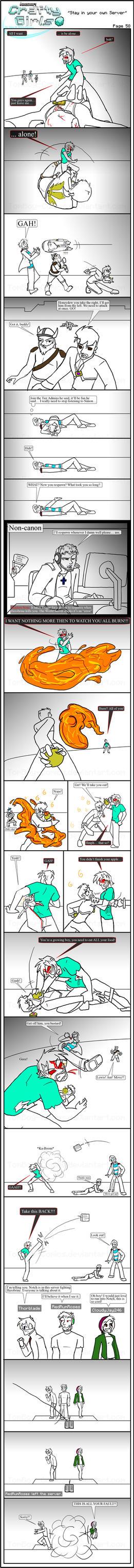 Minecraft Comic: CraftyGirls Pg 58 by TomBoy-Comics
