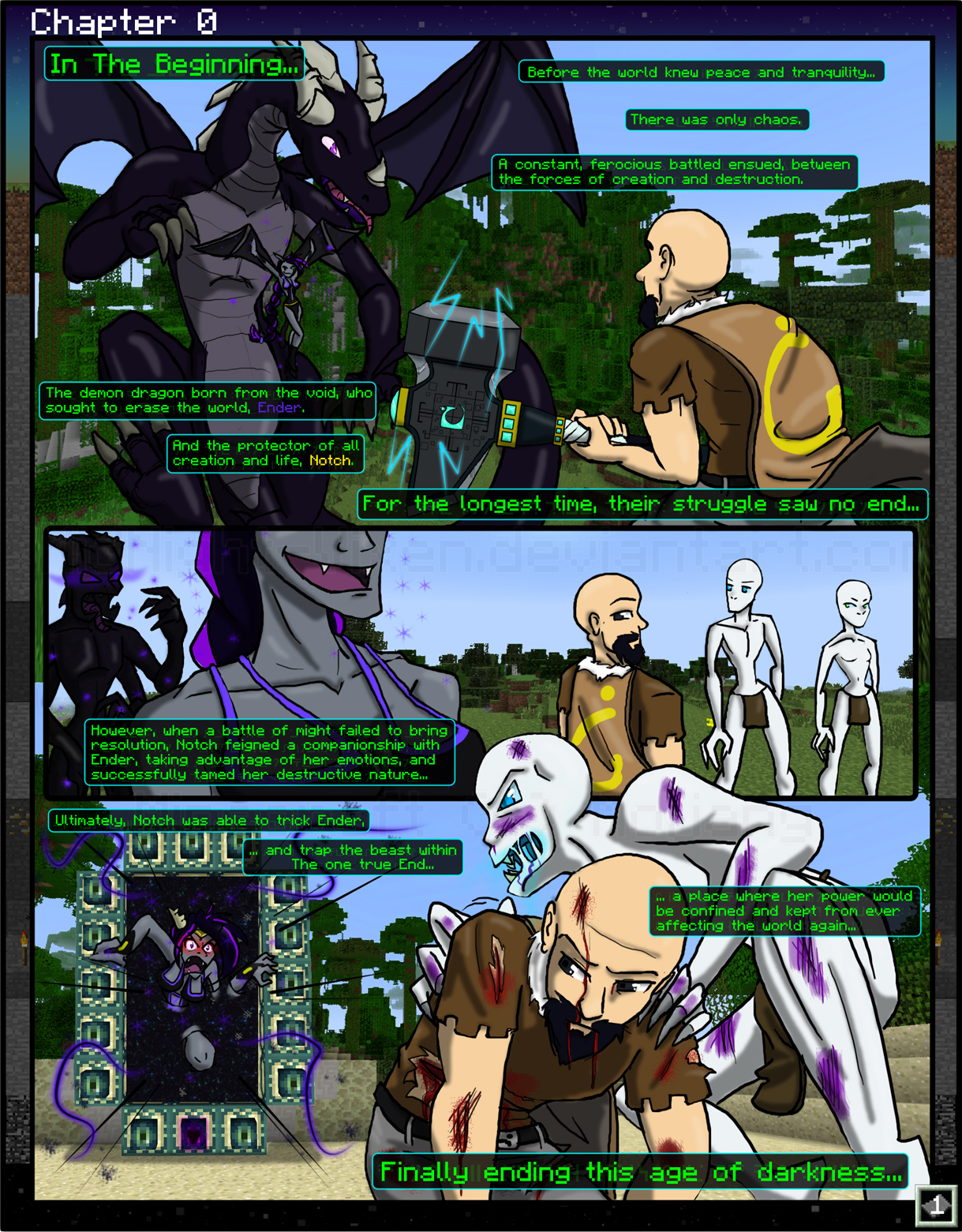 Minecraft: The Beginning Chapter 0 - 1 by TomBoy-Comics on ...