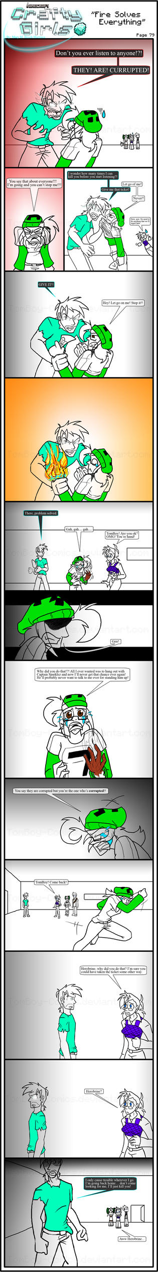 Minecraft Comic: CraftyGirls Pg 79 by TomBoy-Comics