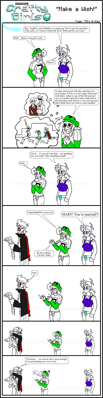 Minecraft Comic: CraftyGirls Pg TB's B-Day by TomBoy-Comics