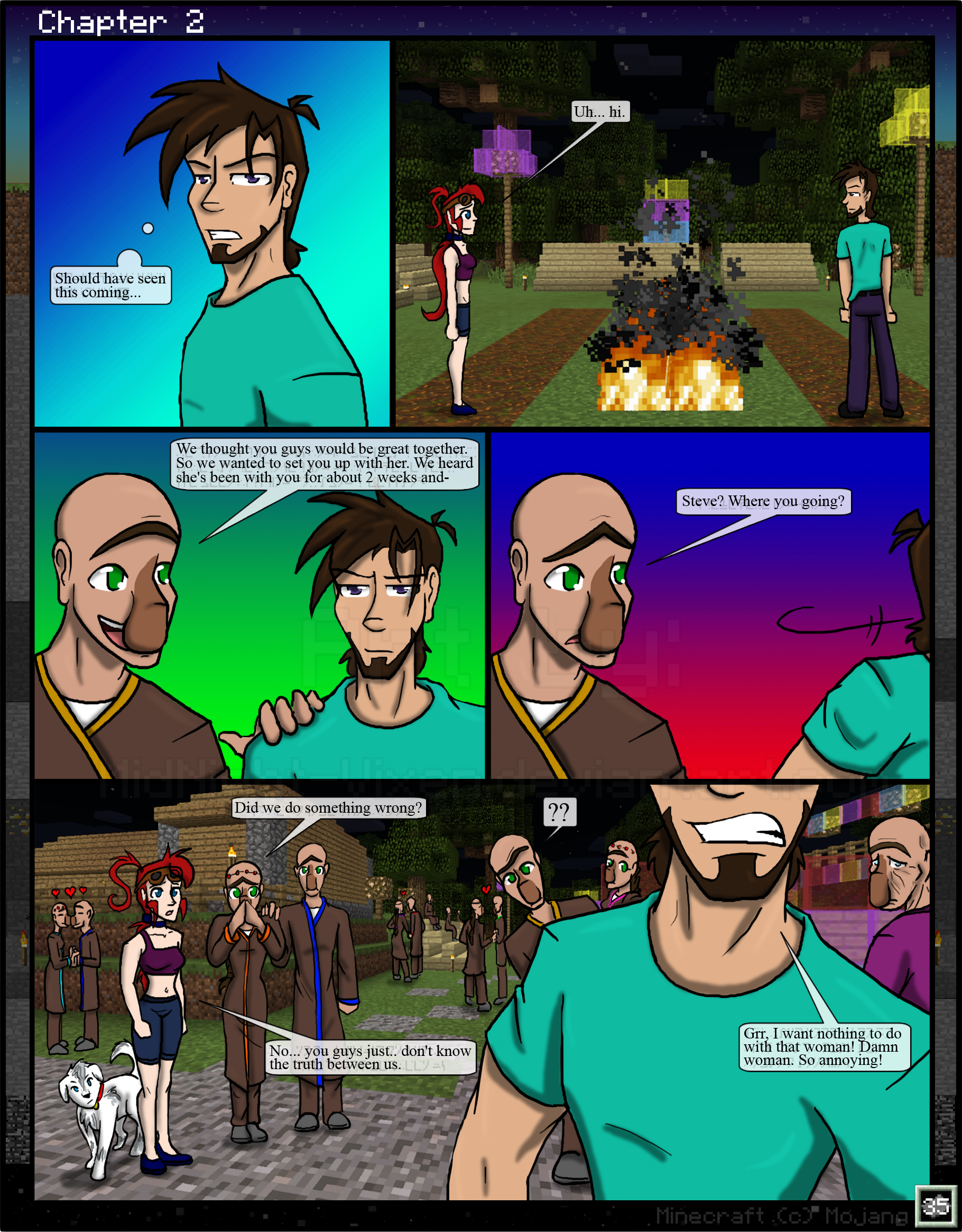 Minecraft: The Awakening Ch2. 35 by TomBoy-Comics on