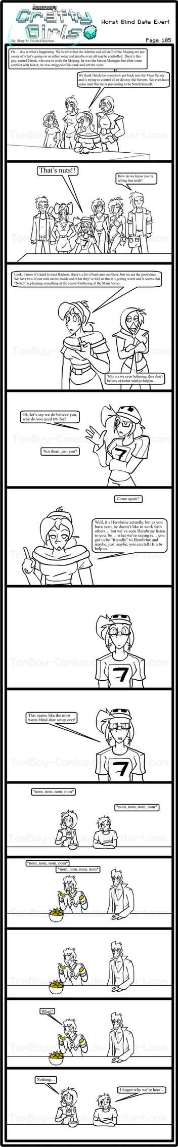 Minecraft Comic: CraftyGirls Pg 105