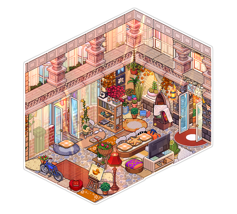 Paris apartment [Living Room]