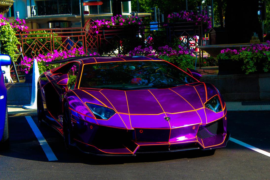 purple lamborghini aventador wallpaper viewing gallery - Lamborghini Aventador Chrome Purple