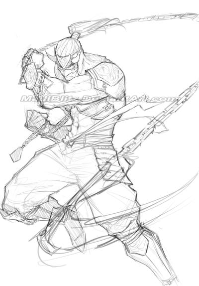 .Hanzo_Sketch. by MadiBlitz
