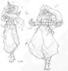 .Random Kabuki_sketches. by MadiBlitz