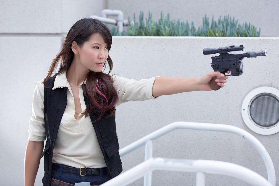 Female Han Solo Cosplay by milkchess