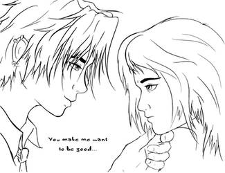 You Make Me Want to be Good by Elbellart