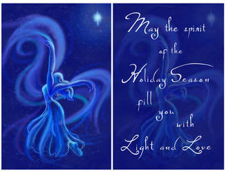 Spirit Dance - Holiday Card Commission by Elbellart