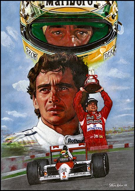 Ayrton Senna by SteveAlce