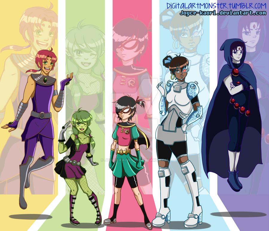 Titans Swap! by joyce-kaori