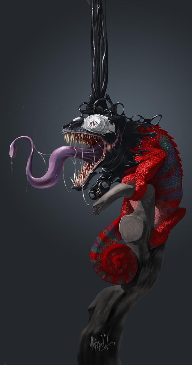 Chameleon+Venom by AlejandroGA