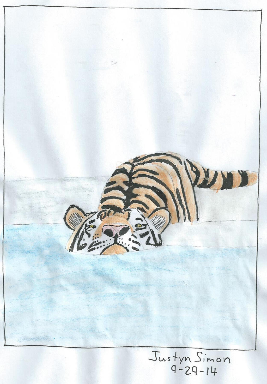 Tiger in water by Justyn16