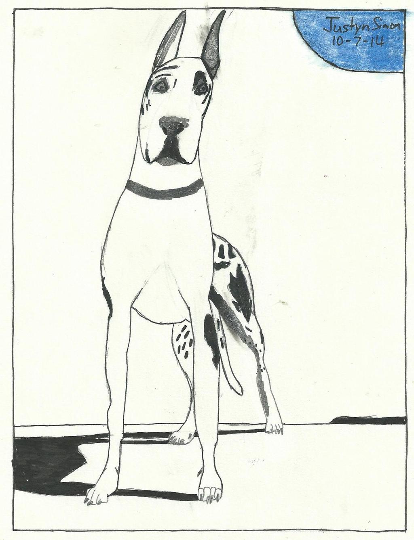 Ink Great Dane by Justyn16