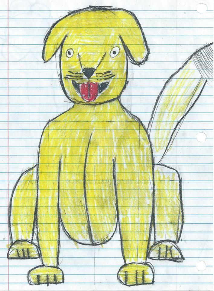 Yellow dog by Justyn16