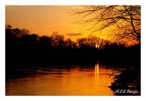 River Sunset 02 by Alabamaphoto
