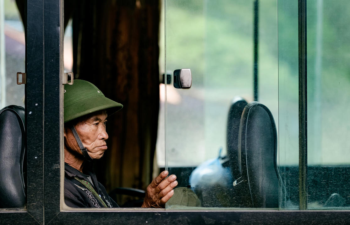 On the Bus - North Vietnam Portrait by dmack