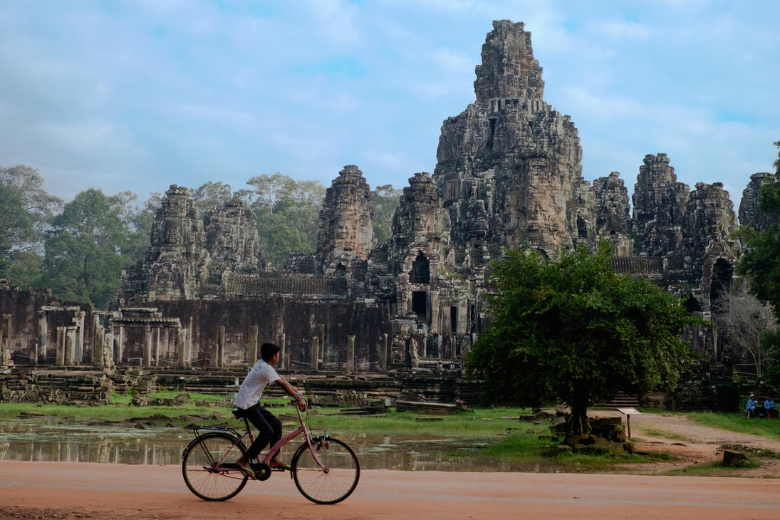 Bayon Temple, Cambodia by dmack