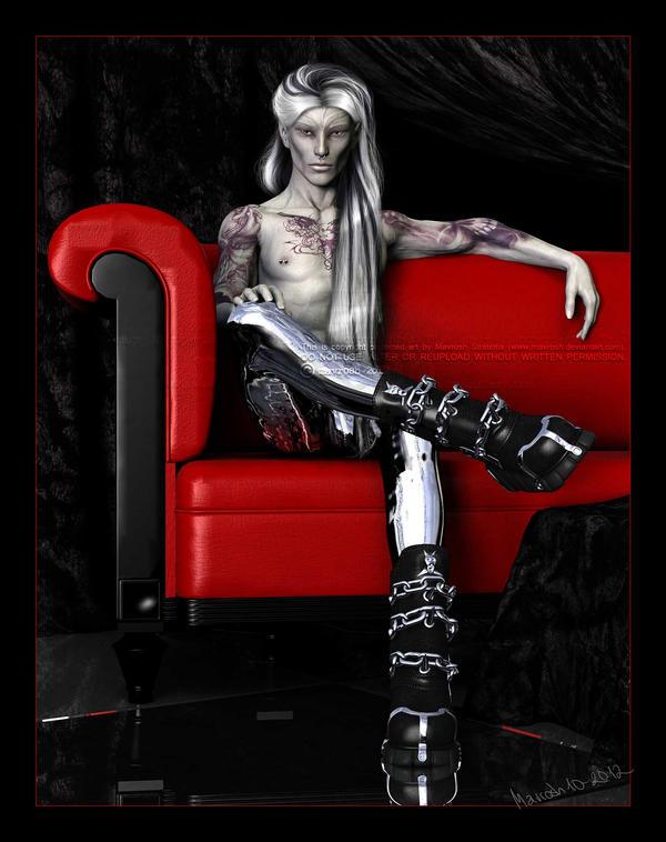 The Red Couch: Devon by Mavrosh
