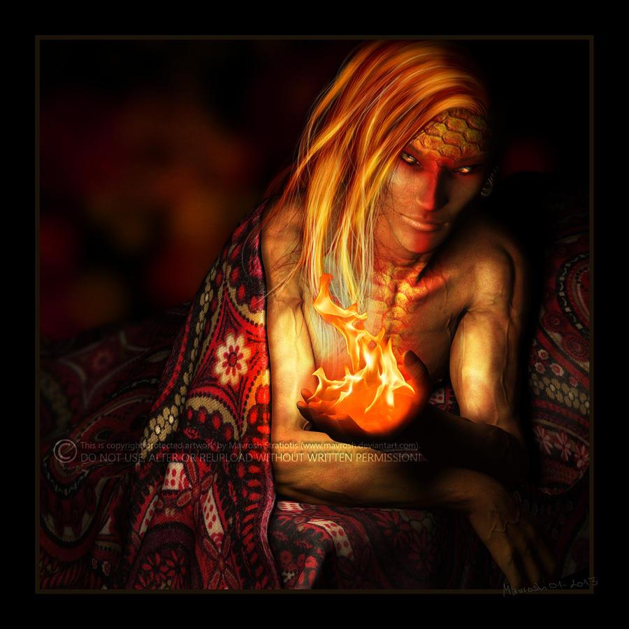A Fire Genasi Named Ginger by Mavrosh