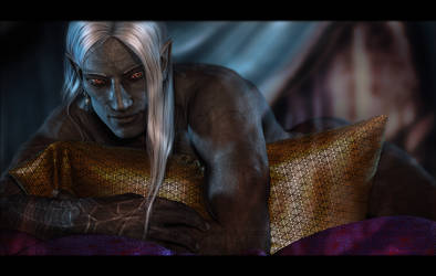 Relaxed Drow by Mavrosh
