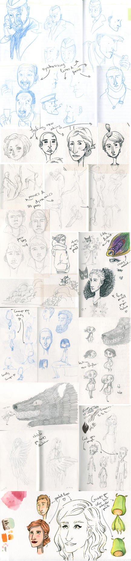 Sketchs 201501 by NorikoNyaaa