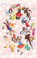 Pokemon Girls by AthenaWyrm
