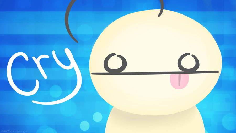 CRY wallpaper: :P by izsumi123