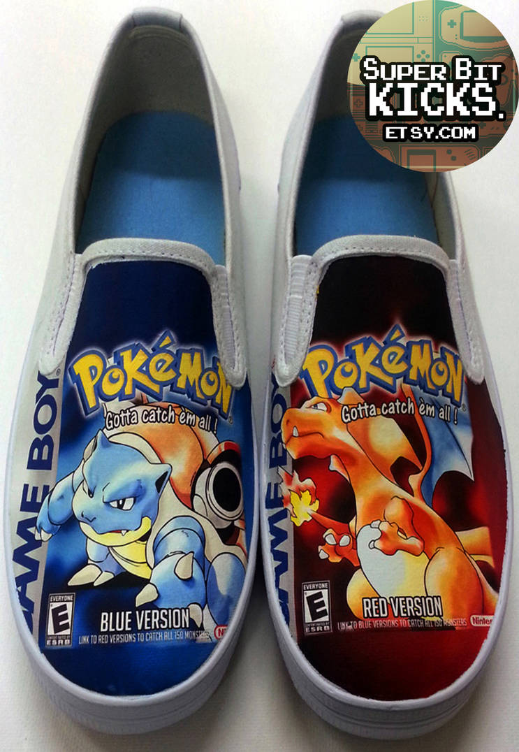 b7fabb3d5ded3 Custom Pokemon Red and Blue Canvas Shoes by SuperBitKicks on DeviantArt