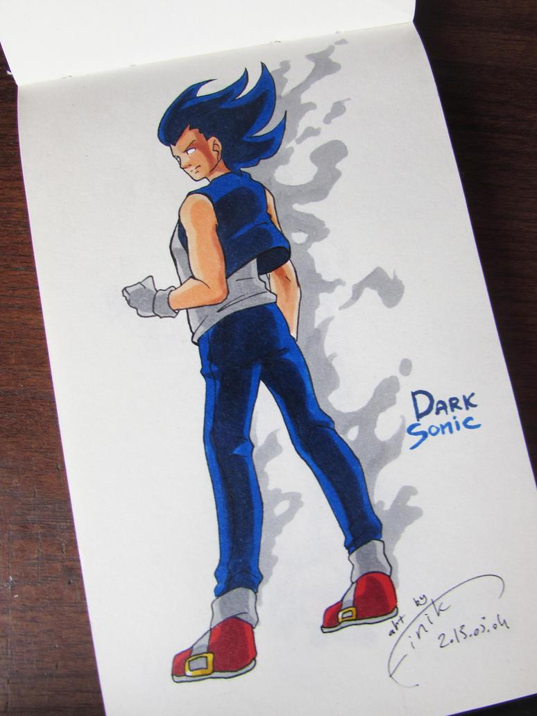 Dark Sonic the Human by FinikArt on DeviantArt