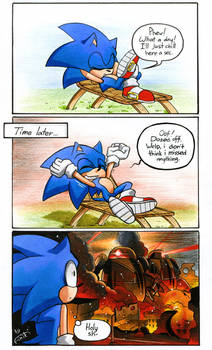 Where was Sonic before the ''Forces''?
