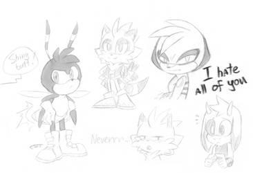 Stream sketches by FinikArt