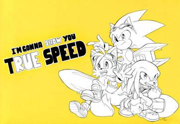 I'm gonna show you true speed by FinikArt