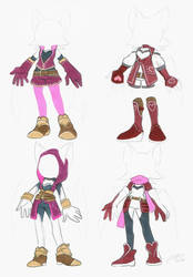 Rouge's Fantasy outfit. Early designs