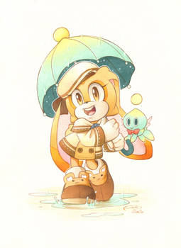 In the rain: Cream