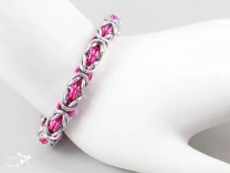 Hot Pink Chunky Byzantine Bracelet