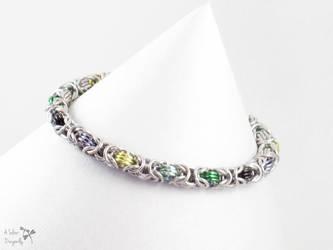 Aromantic Pride Byzantine Bracelet