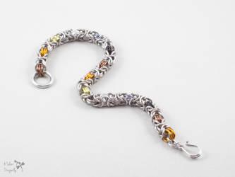 Bear Pride Byzantine Bracelet