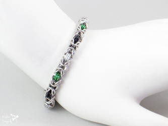 Neutrois Pride Byzantine Bracelet