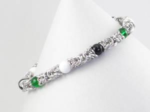 Neutrois Pride Beaded Byzantine Bracelet