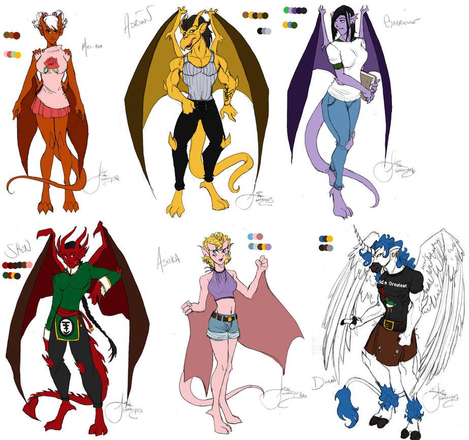 Lynnie s Gargoyles by lynnwoodGargoyles Disney Characters